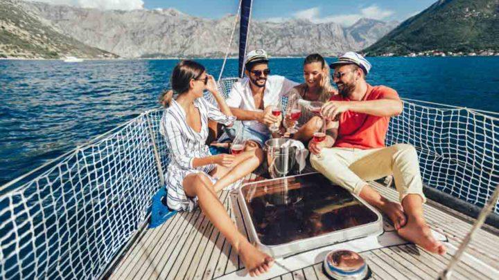 Отдых с друзьями на яхте