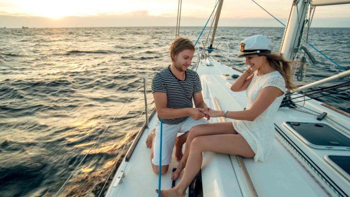 Предложение руки и сердца на яхте в Сочи